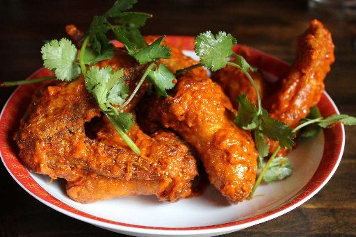 The Spicy Wings at Umai Mi were made with fresh red curry paste and lime crema.
