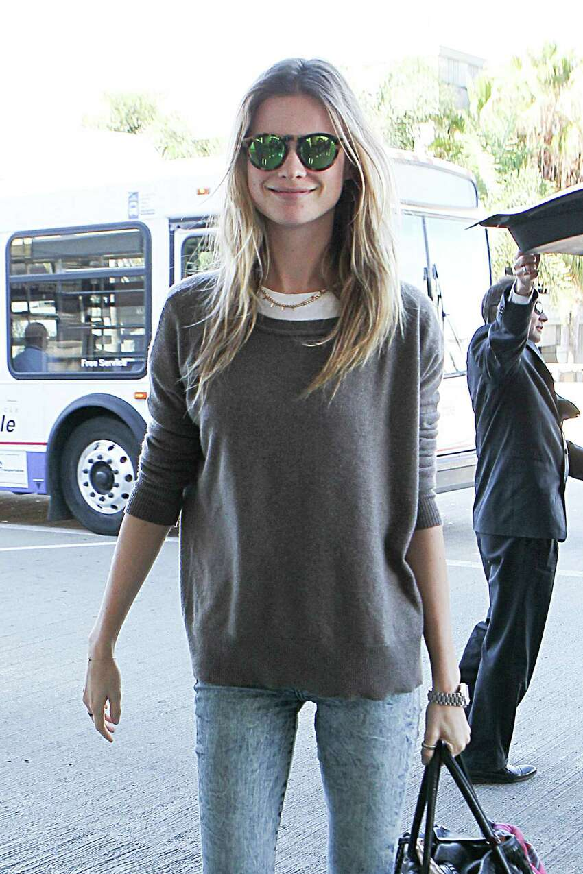Behati Prinsloo seen at LAX on November 28, 2014 in Los Angeles, California. (Photo by GVK/Bauer-Griffin/GC Images)