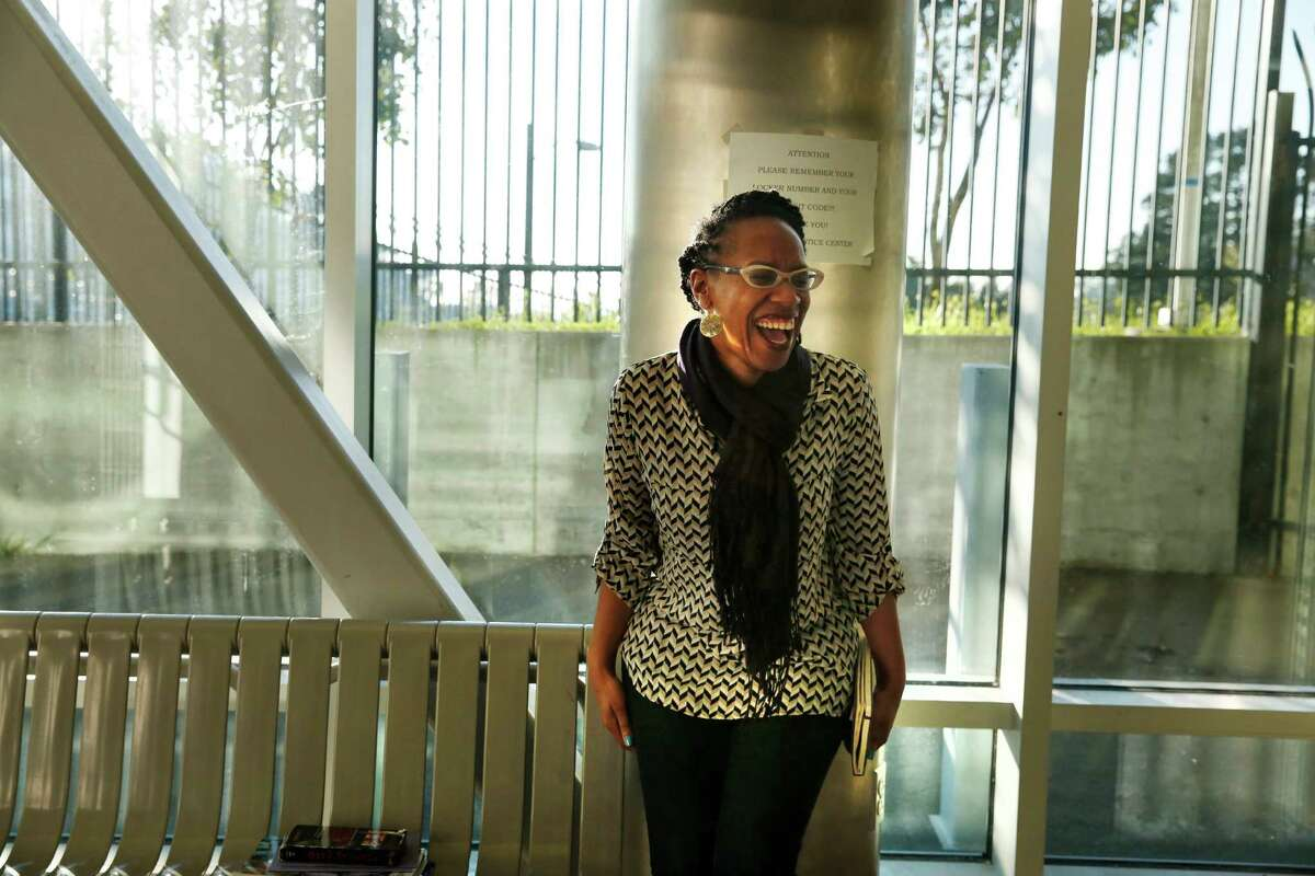 Program director at the Rosenberg Foundation Lateefah Simon prepares to meet with a group of girls at San Francisco's Juvenile Hall on Friday Jan. 02, 2015 in San Francisco, Calif. Simon is being recognized as a visionary of the year by the San Francisco Chronicle.