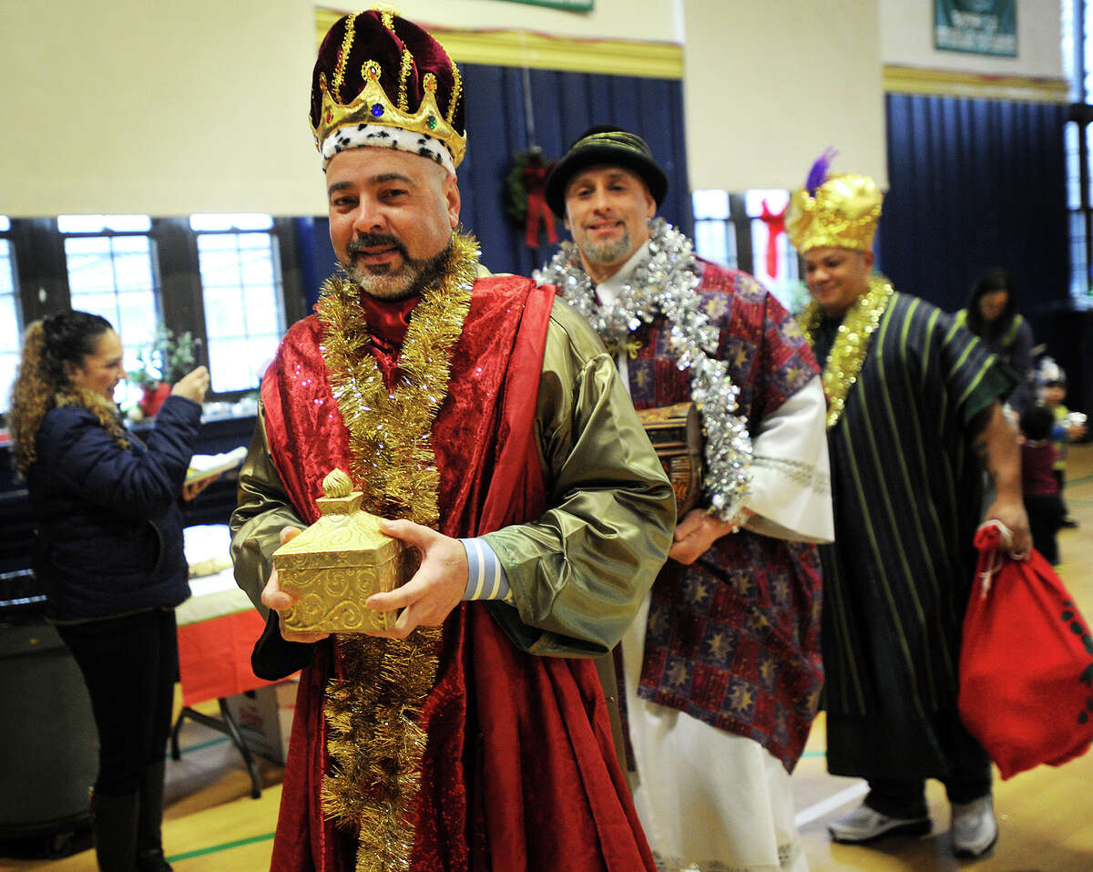 The Stratford Hispanic Heritage Committe's annual Three Kings Day celebration at the St. James School gymnasium in Stratford, Conn. on Sunday, January 4, 2014.