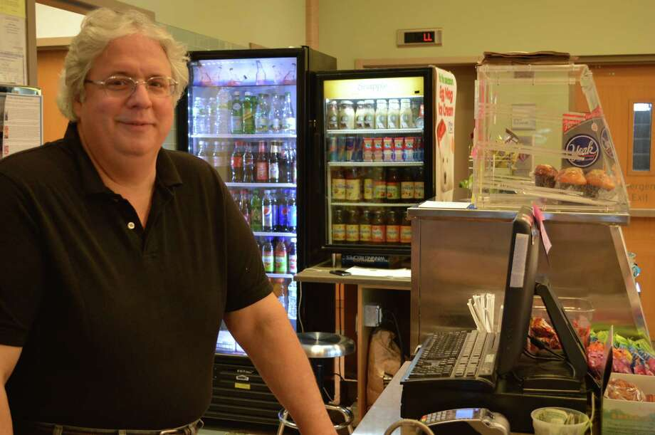 John Martin has been running the Frosty Bear Café at the Darien Library since last June. Photo: Jarret Liotta / Darien News