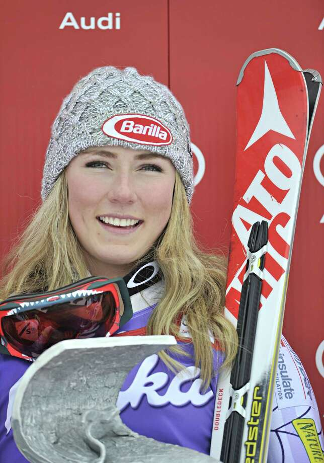 SOELDEN, AUSTRIA - OCTOBER 25: (FRANCE OUT) Mikaela Shiffrin of the USA takes joint first place during the Audi FIS Alpine Ski World Cup Women's Giant Slalom on October 25, 2014 in Soelden, Austria. (Photo by Michel Cottin/Agence Zoom/Getty Images) ORG XMIT: 513436107 Photo: Michel Cottin/Agence Zoom / 2014 Getty Images