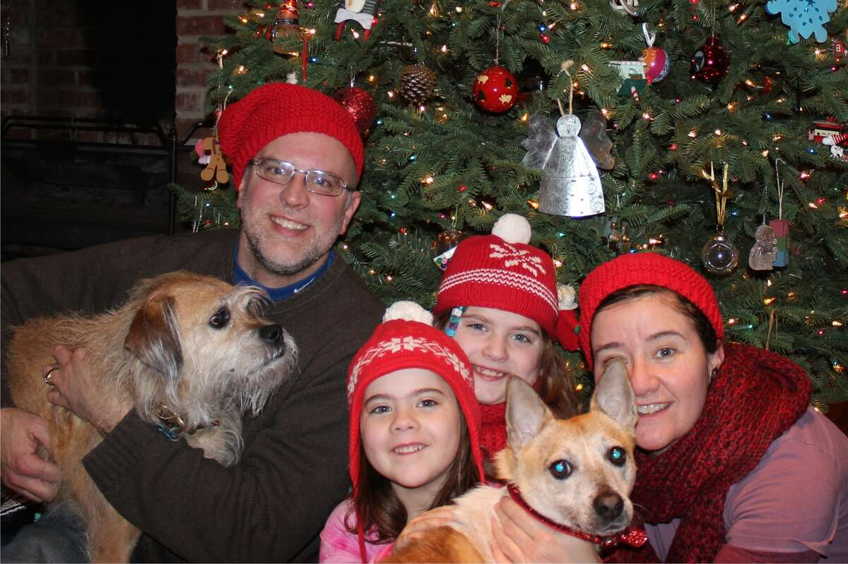 Rusty with his new family in New Hampshire