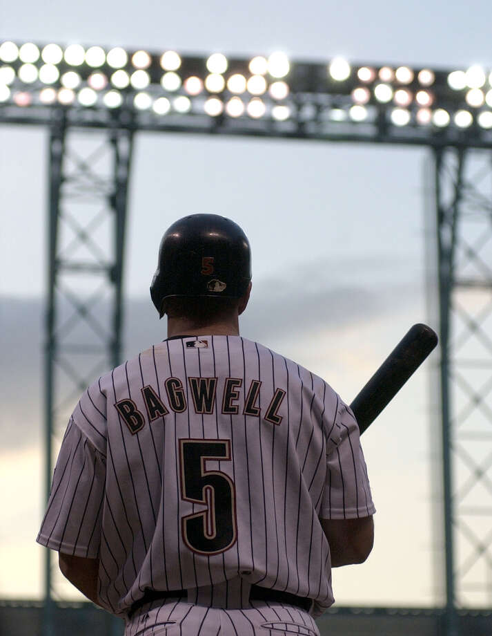This year marks former Astros first baseman Jeff Bagwell's fifth time to appear on the Baseball Hall of Fame ballot. Photo: Karen Warren, STAFF / HOUSTON CHRONICLE