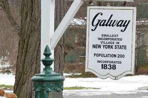 The historic 1907 village watering trough in Galway Village Park Thursday Dec. 18, 2014, in Galway, NY. A 15-year community effort concluded this month in Galway with the publication of a 300-page book that documents the changing history of the western Saratoga County town. (John Carl D'Annibale / Times Union)