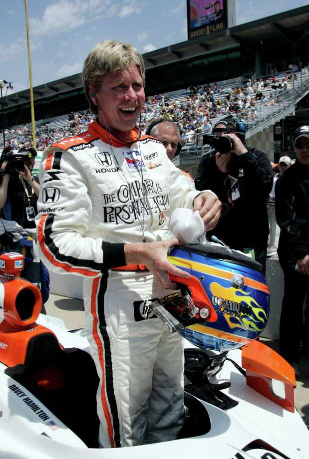 In this 2008 file photo, race driver Davey Hamilton laughs after qualifying for the Indianapolis 500 auto race at the Indianapolis Motor Speedway in Indianapolis. Hamilton was named managing director of Katy's Kingdom Racing on Jan. 5. Photo: Tom Strattman, STR / AP
