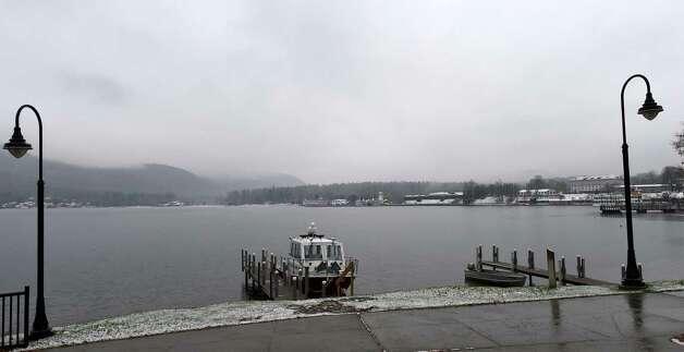 Lake George is quiet Monday morning, Nov. 17, 2014, in Lake George Village, N.Y. (Skip Dickstein/Times Union) Photo: SKIP DICKSTEIN / 00029496A