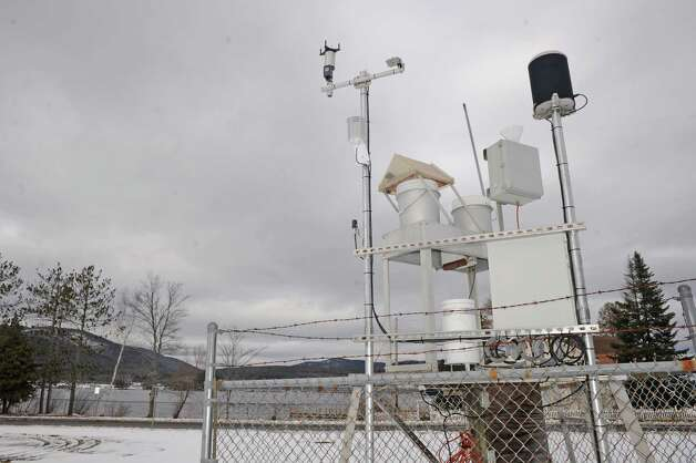 Weather station acros the road from the Million Dollar Beach on Thursday Dec. 18, 2014 in Lake George ,N.Y.  (Michael P. Farrell/Times Union) Photo: Michael  P. Farrell / 00029923A