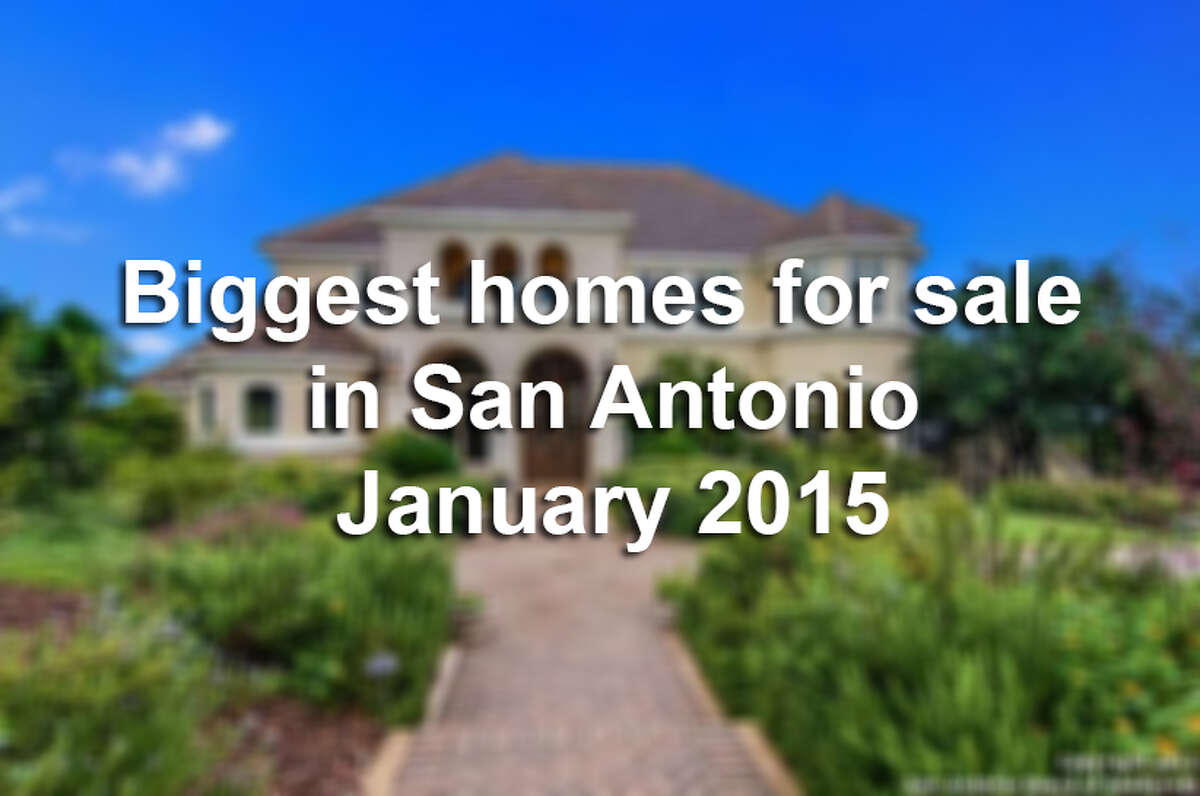 Click through to see some of the biggest houses for sale in San Antonio right now.
