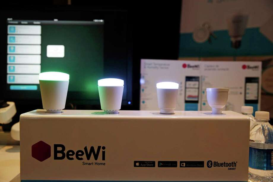 BeeWi wirelessly controlled lights are on display at CES Unveiled, a media preview event for CES International, Sunday, Jan. 4, 2015, in Las Vegas. (AP Photo/John Locher) Photo: John Locher, Associated Press / Associated Press contributed