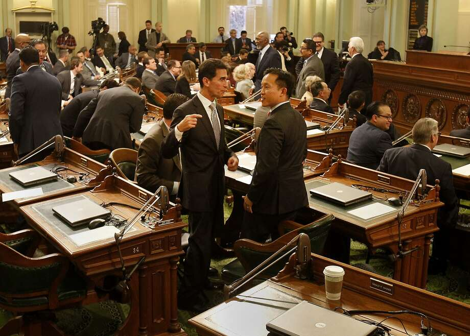 State Sen. Mark Leno (center, pointing) said he wants to know more about the problem before spending any more money. Photo: Brant Ward, The Chronicle