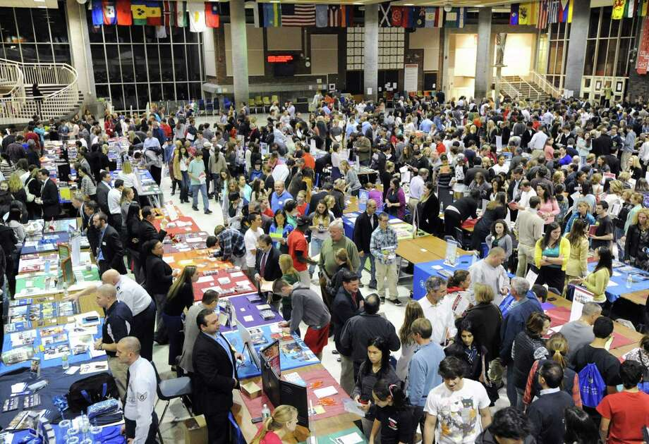 College night in the Student Center at Greenwich High School, Thursday, Oct. 11, 2012. Photo: Bob Luckey / Greenwich Time