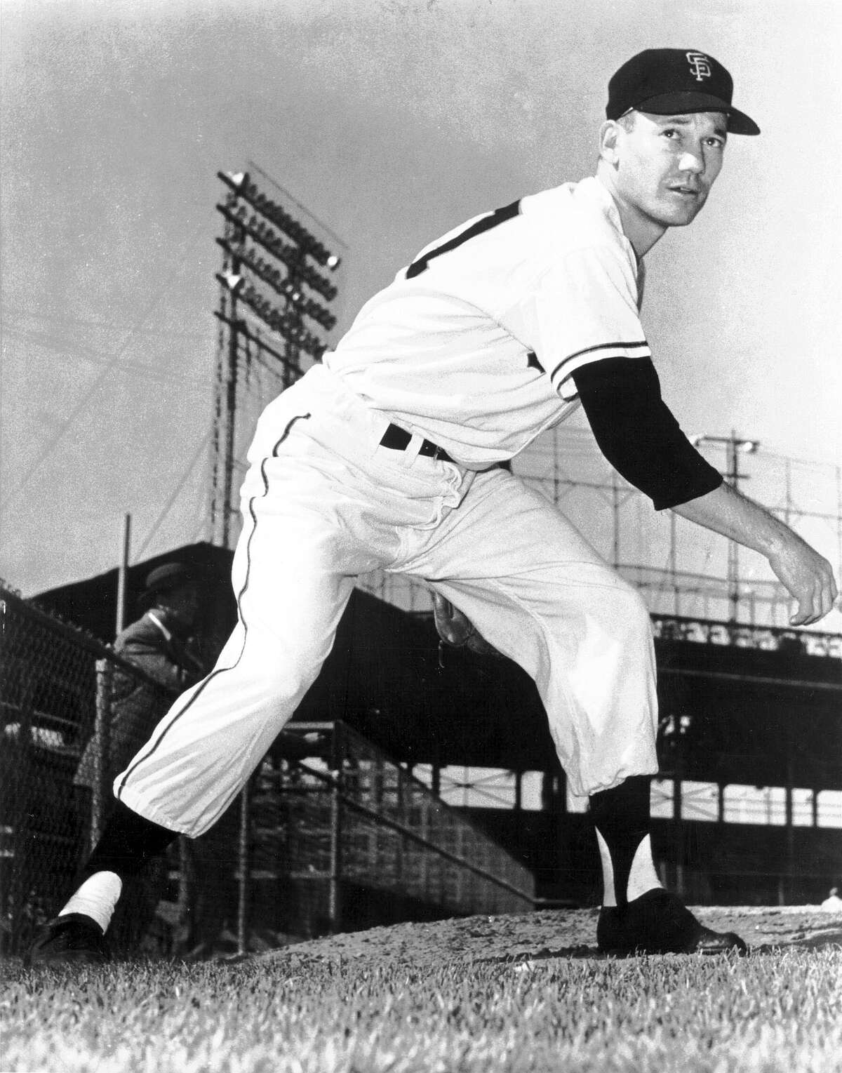 Stu Miller had 154 career saves, leading the National League and American League in one season each. He pitched for the Giants from 1957 to 1962 and won a World Series with the Orioles in 1966.