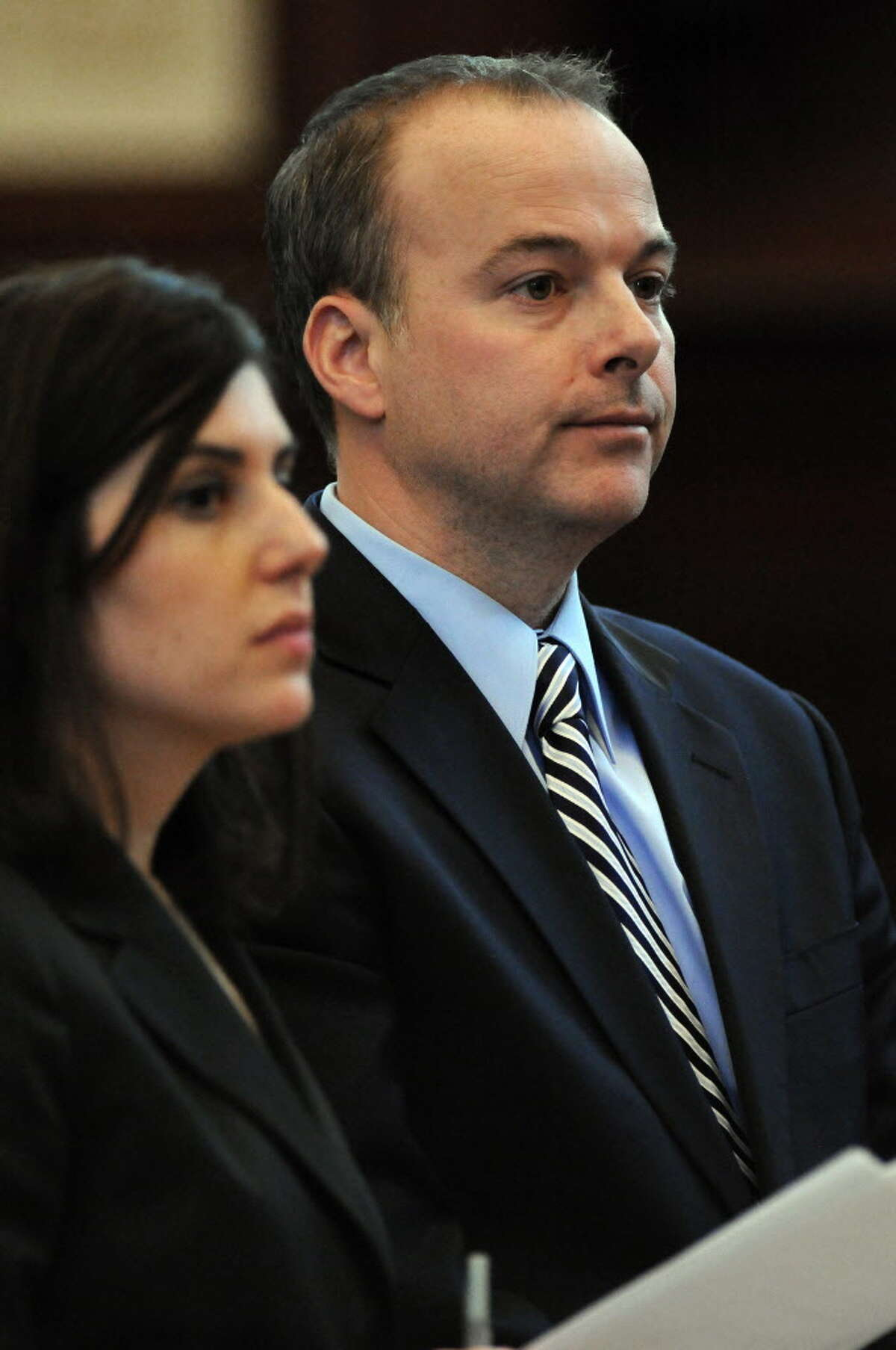 John Brown pleads guilty to possession of a forged instrument, for his role in a ballot fraud case in Rensselaer County Court on Tuesday Dec. 20, 2011 in Troy, N.Y. (Philip Kamrass / Times Union archive )
