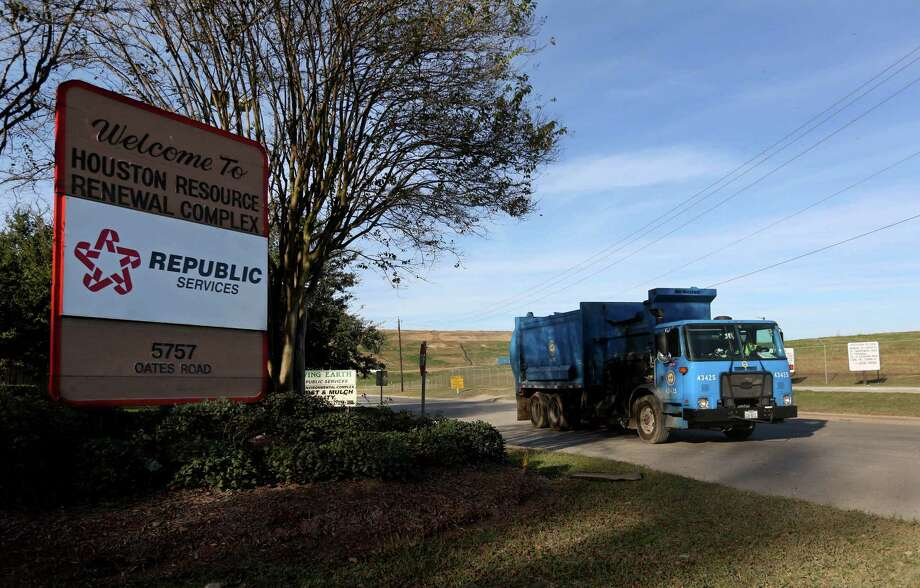 A renegotiated contract between the city of Houston and its primary trash hauler, Republic Services, will save the city about $600,000 a year and perhaps as much as $70 million over the life of the contract.  Photo: Gary Coronado, Staff / © 2014 Houston Chronicle