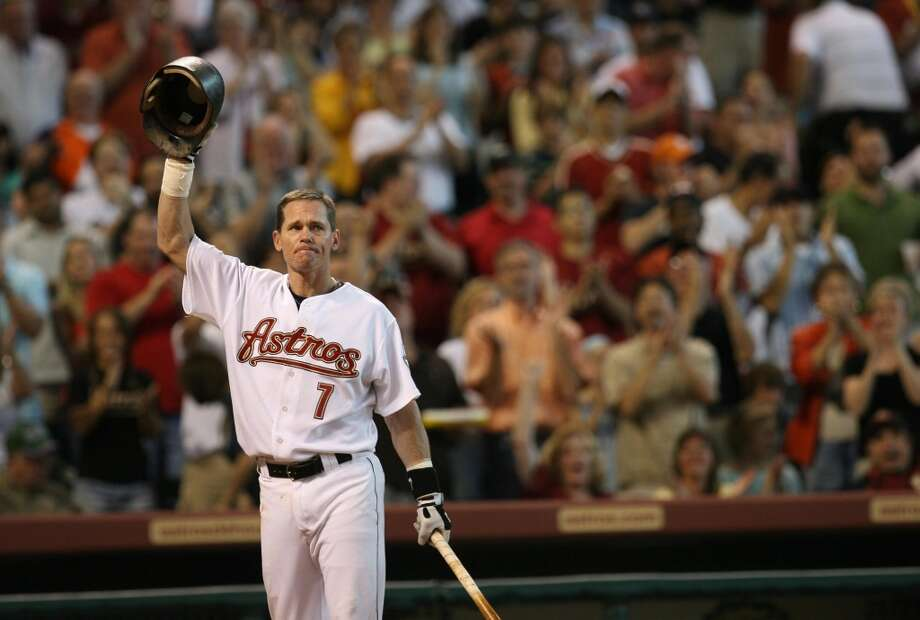Craig Biggio was elected into the Baseball Hall of Fame on Jan. 6, 2015. Take a look at Biggio's stellar career by the numbers: Photo: Sharon Steinmann, Houston Chronicle