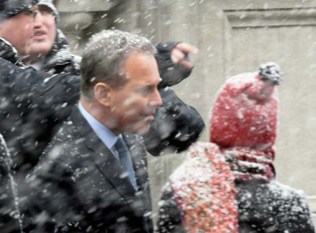 Attorney General Eric Schneiderman arrives for the funeral of former Governor Mario M. Cuomo at St. Ignatius Loyola Church Tuesday morning Jan. 6, 2015 in New York City, N.Y.       (Skip Dickstein/Times Union) Photo: SKIP DICKSTEIN / 00030083A