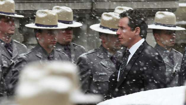 Chris Cuomo, arrives for the funeral of his father, former Governor Mario M. Cuomo, Tuesday morning, Jan. 6, 2015, at St. Ignatius Loyola Church in New York City, N.Y.  Chris Cuomo was one of the pall bearers.   (Skip Dickstein/Times Union) Photo: SKIP DICKSTEIN / 00030083A