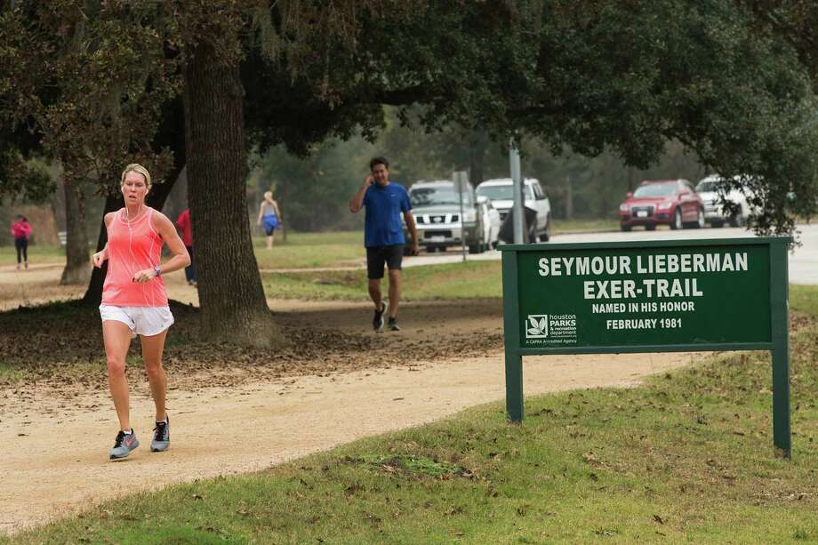 The Seymour Lieberman Exer-Trail at Memorial Park is the most-used exercise trail in Houston. Photo: Brett Coomer, Staff / © 2014 Houston Chronicle