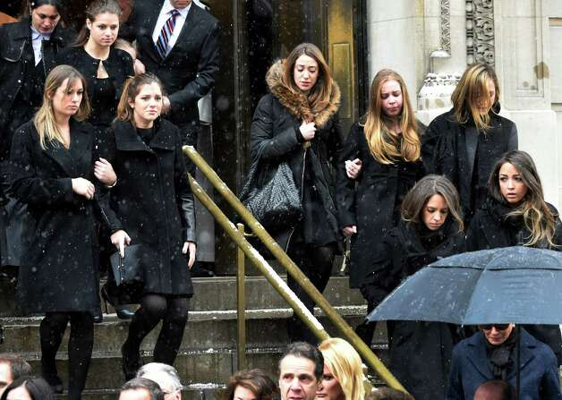 A large group of grandchildren leaves the church after the funeral service of former Gov. Mario M. Cuomo at St. Ignatius Loyola Church Tuesday afternoon Jan. 6, 2015 in New York City, N.Y.       (Skip Dickstein/Times Union) Photo: SKIP DICKSTEIN / 00030083A