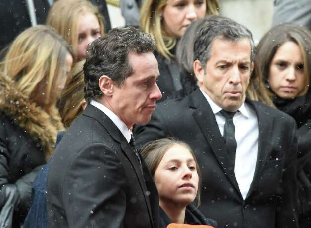 Chris Cuomo leaves the church after the funeral service for his father, former Gov. Mario M. Cuomo, at St. Ignatius Loyola Church Tuesday afternoon Jan. 6, 2015 in New York City, N.Y.       (Skip Dickstein/Times Union) Photo: SKIP DICKSTEIN / 00030083A