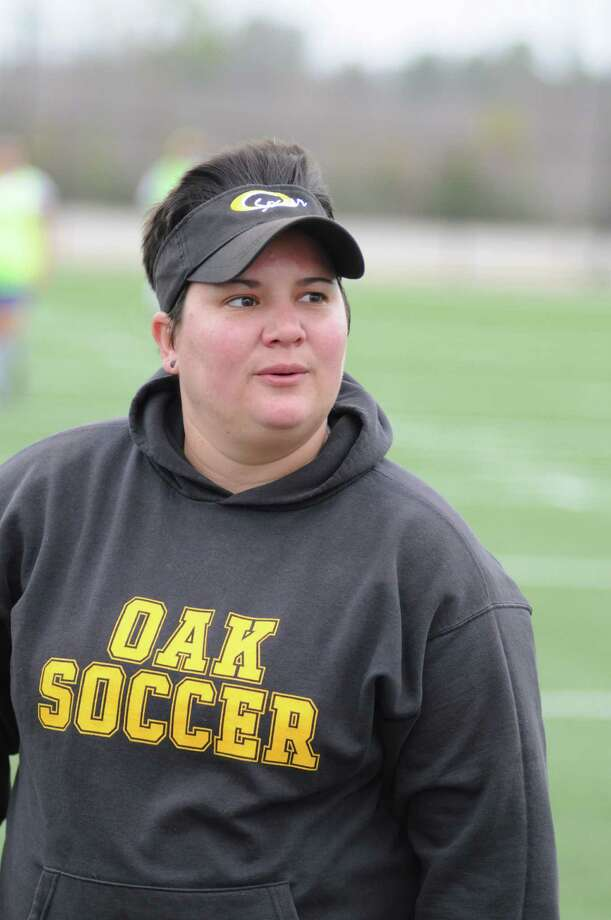 Klein Oak soccer head coach Becky Cobb and Klein Oak girls soccer competes at the Katy ISD I-10 Shootout Thursday through Saturday, Jan. 17-19, 2013. The Lady Panthers open tourney action against Clements at noon Thursday at Cinco Ranch High School. Photo: L. Scott Hainline, Freelance / Freelance