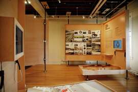 Displays are seen in the New Presidio Parklands Project Gallery and Ideas Forum at the Presidio Trust Headquarters on Monday, January 5,  2015 in San Francisco, Calif.