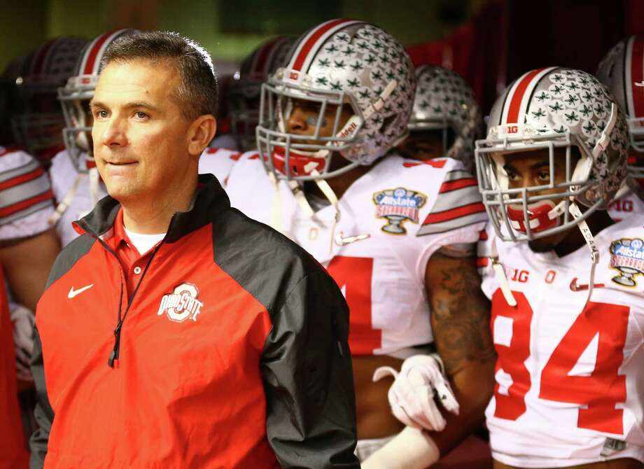 Ohio State coach Urban Meyer prepares to exit the tunnel with his Buckeyes team before the Sugar Bowl at the Mercedes-Benz Superdome in New Orleans, on Jan. 1, 2015. Photo: Streeter Lecka /Getty Images / 2015 Getty Images