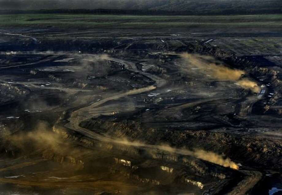 The vast Alberta oil sands project, often likened to a real-life Mordor:  The expanded TransMountain pipeline would carry 890,000 barrels a day of Alberta bitumen crude to an oilport just east of Vancouver.  It would be shipped out using 34 tankers a month, through sensitive marine waters shared by Washington and British Columbia.