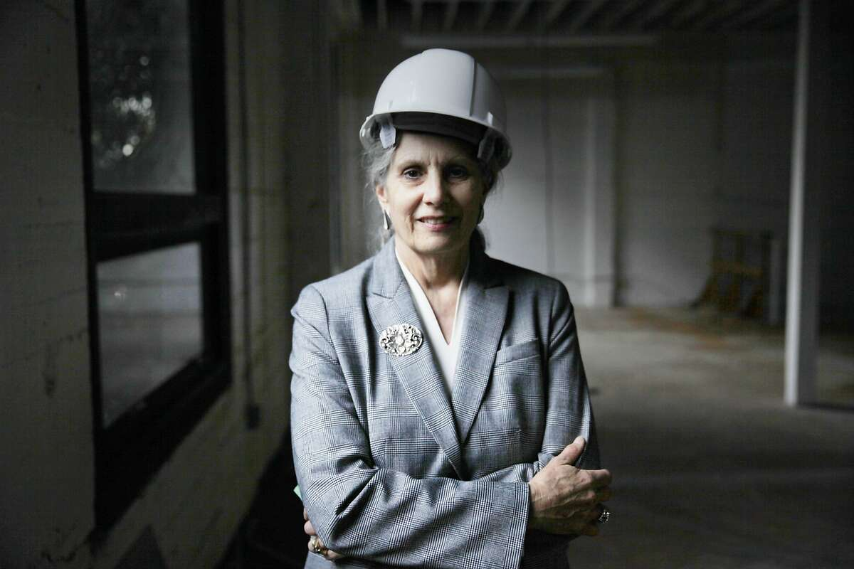 Dr. Gloria Duffy, president and CEO, The Commonwealth Club, stands in 101 The Embarcadero, which is the site planned for the new headquarters of The Commonwealth Club on Tuesday, January 6, 2015 in San Francisco, Calif.