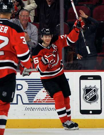 NEWARK, NJ - JANUARY 06: Patrik Elias #26 of the New Jersey Devils celebrates his goal at 3:44 of the first period against the Buffalo Sabres at the Prudential Center on January 6, 2015 in Newark, New Jersey.  (Photo by Bruce Bennett/Getty Images) ORG XMIT: 507048667 Photo: Bruce Bennett / 2015 Getty Images