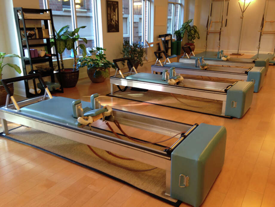 Reformer apparatus at Reform, A Tru Pilates Studio in Saratoga Springs. (Carin Lane / Times Union)