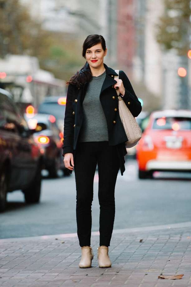 "Kara Reilly, an associate manager for COACH, describes her personal style as ""effortless chic."" Photo: William C Rittenhouse"