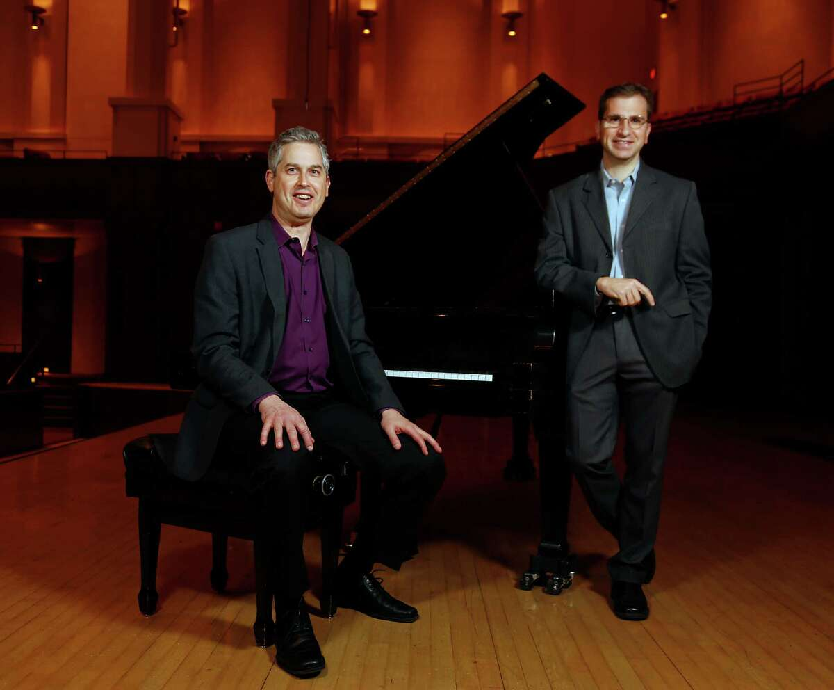 Composers Anthony Brandt left, and Karim Al-Zand have written new pieces that will premiere in a concert by the new-music group Musiqa.