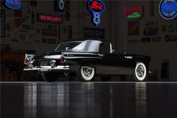 """1955 Ford Thunderbird Convertible  Sports Illustrated did an article October 4, 1954, titled """"Testing the Thunderbird,"""" and this T-Bird was used as the test vehicle. Ford verified the status of this car in 1966, designated as the most valuable T-Bird in existence."""