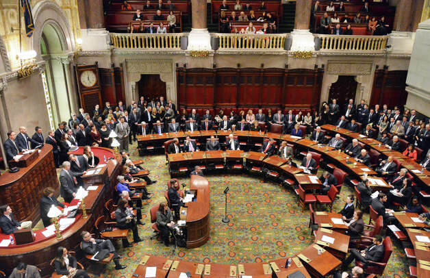 The NYS Senate holds its first meeting of the new year Wednesday Jan. 7, 2015, in Albany, NY.  (John Carl D'Annibale / Times Union) Photo: John Carl D'Annibale, Albany Times Union / 00030091A