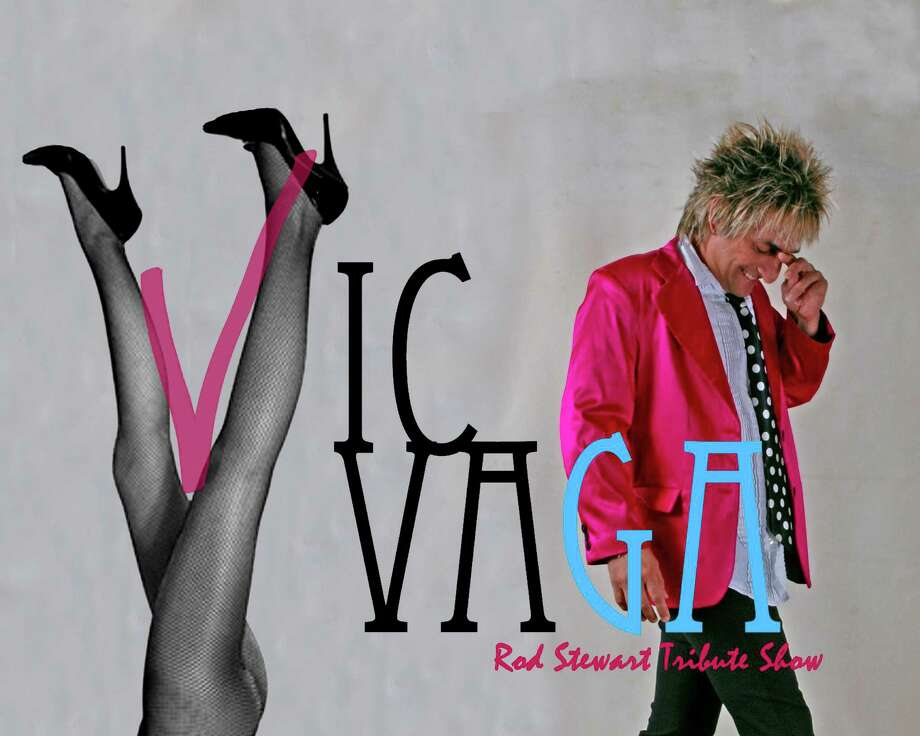 Ad for Rod Stewart impersonator Vic Vaga, a San Antonio native Photo: Courtesy Image