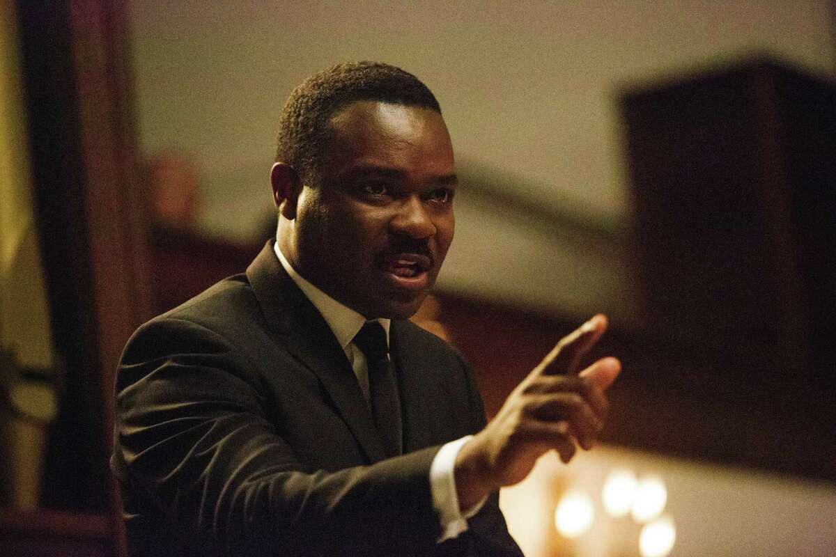 """David Oyelowo gives a remarkable portrayal of Dr. Martin Luther King Jr. in a scene from """"Selma."""""""