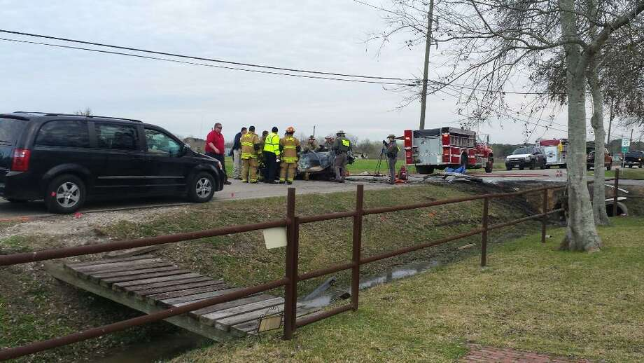 Three Manvel High students died in a wreck on County Road 89 at County Road 100 on Wednesday. Photo: Onyx Large
