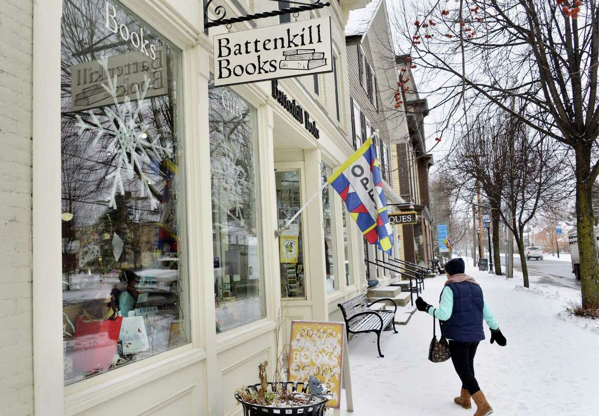A customer enters Battenkill Books Tuesday Jan. 6, 2015, in Cambridge, NY. Owner Connie Brooks recently got a grant from author James Patterson to expand her independent bookstore. (John Carl D'Annibale / Times Union)