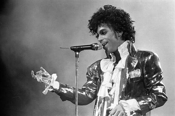 Prince performs at the Summit, Jan. 10, 1985.