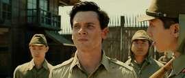 "Jack O'Connell as Louis Zamperini in ""Unbroken"": He doesn't look the part."