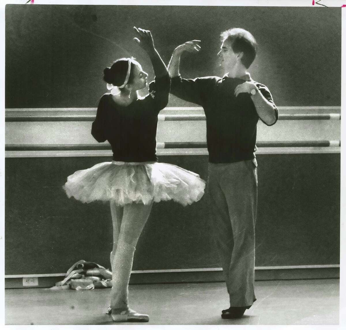 S.F. Ballet Artistic Director Helgi Tomasson with Evelyn Cisneros in 1985.