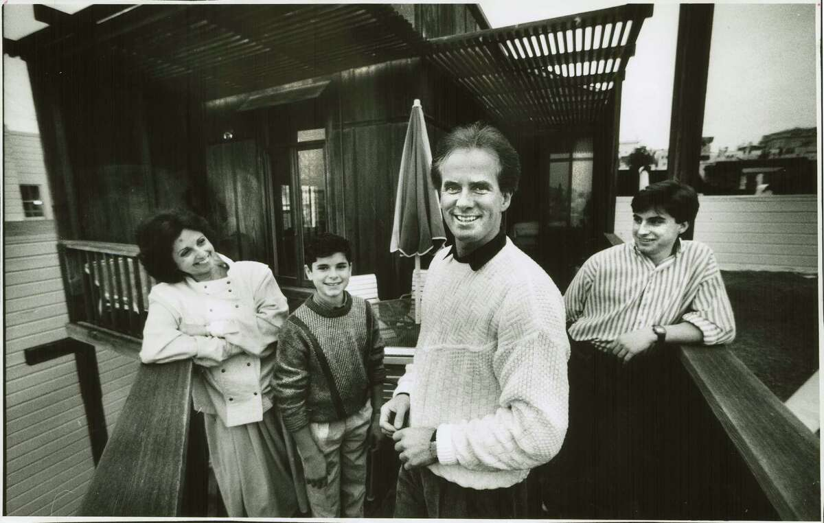 Helgi Tomasson with his family at his new home in 1985 after taking the helm at San Francisco Ballet.