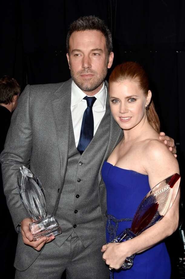 Actor Ben Affleck (L) and actress Amy Adams attend The 41st Annual People's Choice Awards at Nokia Theatre LA Live on January 7, 2015 in Los Angeles, California. Photo: Frazer Harrison, (Credit Too Long, See Caption)