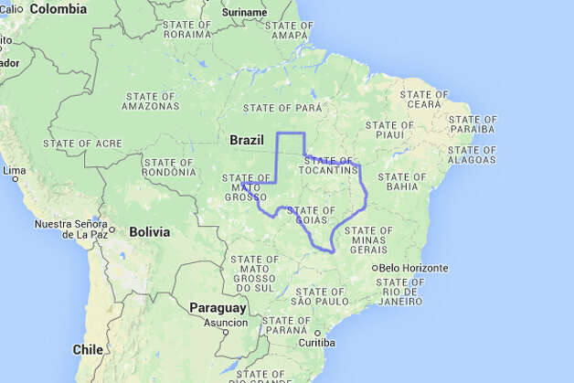 It's no contest: if Texas were in Brazil, Texans would likely have to speak Portuguese.  Photo: MAPfrappe/Google Maps