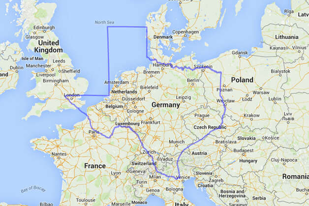 If Texas and Germany stuck together like this, the amount of beer drinking would probably stay level. Photo: MAPfrappe/Google Maps