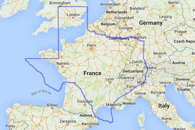 Bonjour, la France, il est très agréable de vous voir.  Photo: MAPfrappe/Google Maps