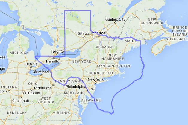 Let's face it: New York and a bunch of those Yankee states might benefit from this. Photo: MAPfrappe/Google Maps