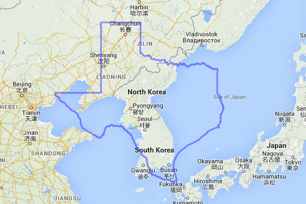 North Korea's leader Kim Jong Un would be handling his business just south of San Angelo if Texas plopped down on top of both North and South Korea. Photo: MAPfrappe/Google Maps